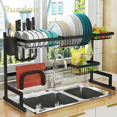 Dish Drying Rack Over Sink Drainer Shelf Kitchen Storage