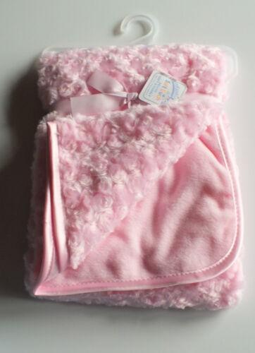 Tolle Baby Decke Kuscheldecke  blau oder rosa   100 cm 75 x cm NEU
