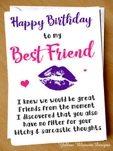 Peachy Funny Happy Birthday Card Cheeky Best Friend Bestie Novelty Girlie Funny Birthday Cards Online Alyptdamsfinfo