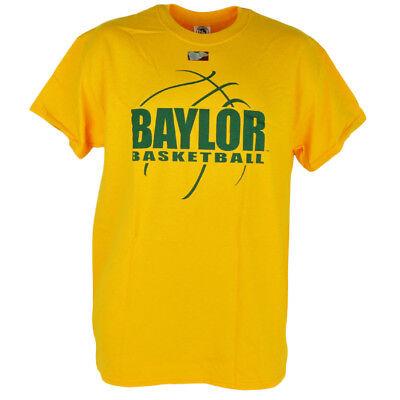 Nachdenklich Ncaa Baylor Bären Basketball Gelbe Kurzärmelig Baumwolle Herren T-shirt Fanartikel