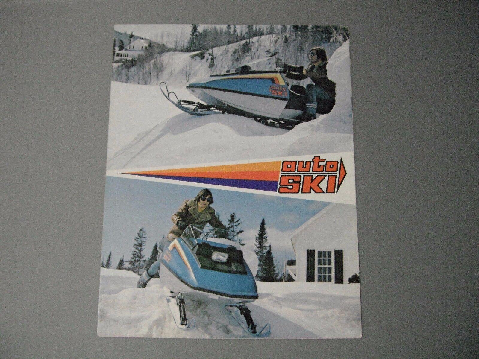 1973 Vintage Auto  Ski Snowmobile Brochure  designer online