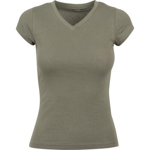 Construire votre marque Women/'s V-Neck T-shirt basique BY062-Casual à manches courtes en coton tee