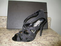 Badgley Mischka junebug Strappy Pumps 5.5 M Black Synthetic Upper In Box
