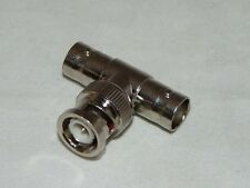"""100PK BNC """"T"""" Adaptor One Male to Double Females"""