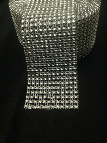 9 Metros Moldura Diamonte Brillante Bling pastel de bodas de plata de la cinta 12 filas//60 mm