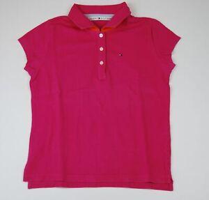 Tommy Hilfiger Poloshirt Knopfleiste Gr.M pink uni -311