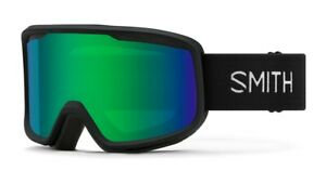 Smith-Frontier-Snow-Goggles-Black-Frame-Green-Sol-X-Mirror-Lens-New-2021