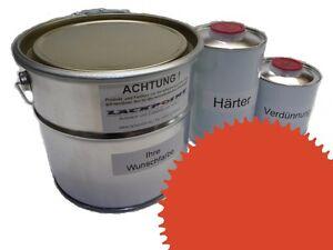 3 Liter Set 2K Floor Color Floor Ral 2010 Vinyl-Epoxid-Lack Lackpoint Shine