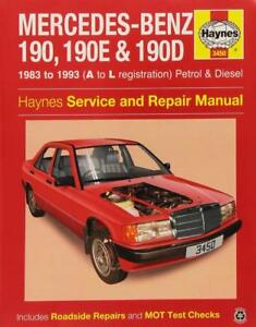 haynes mercedes w201 190 190e 190d e owners service repair manual rh ebay co uk Mercedes-Benz W210 Mercedes-Benz W140