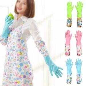 Household-PVC-Plastic-Gloves-Latex-Washing-Kitchen-Dishes-Cleaning-Plumber-J4F8
