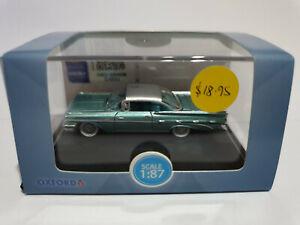 Oxford Diecast 87PB59003 Pontiac Bonneville Coupe 1959 Seaspray Green 1/87