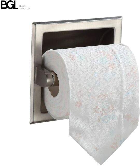 Bgl Stainless Steel 304 Recessed Toilet Paper Holder Chrome For Sale Online Ebay
