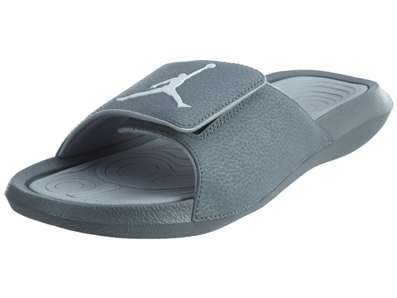 Jordan Jordan Jordan Hydro 6 Uomo 881473-004 Cool Wolf Grey White Logo Slide Sandals Taglia 8 5931e2