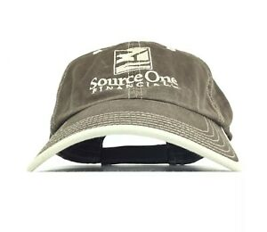 Image is loading SOURCE-ONE-FINANCIAL-Embroidered-Brown-Baseball-Cap-Hat- e64231d1728e