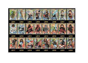 Lego-Star-Wars-Serie-1-Trading-Cards-limitierte-LE1-LE24-Gold-Karten-aussuchen