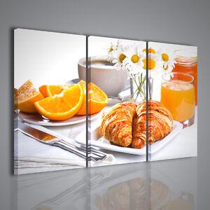 Quadro moderno breakfast ii colazione cornetti quadri for Quadri da arredamento moderno
