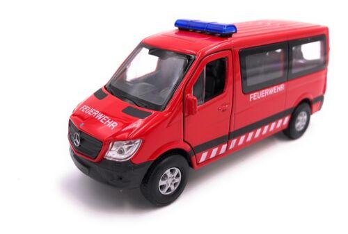 Mercedes Benz Sprinter Feuerwehr Modellauto Auto rot LIZENZPRODUKT 1:34-1:39