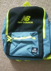 Details about New Balance NB Booker Jr. Backpackbookbag; Riptide Blue & Black W Yellow