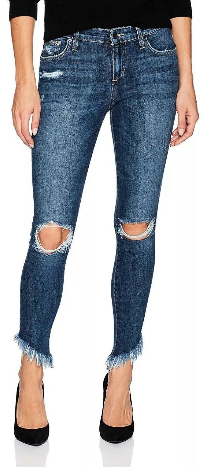 NEW Joe's Jeans The Icon Aydin Skinny Ankle Diagonal Hem 31 Actual 33 x 26.5