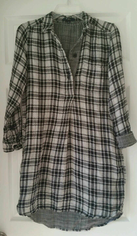 Madewell Latitude Shirtdress in Kemp Plaid E4817 schwarz Weiß S Small