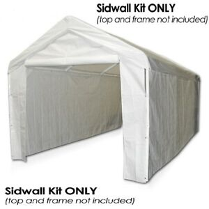 Canopy Garage Side Wall Kit 10 x 20 Big Tent Portable ...