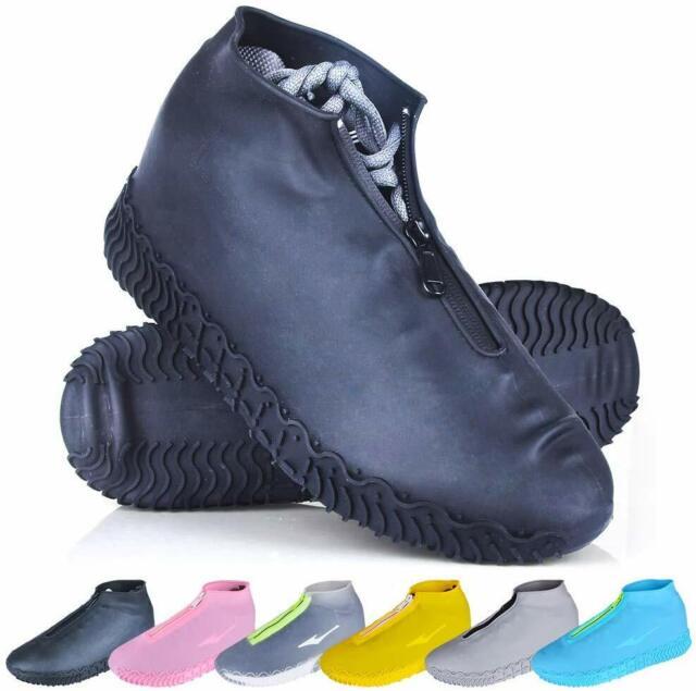 Reusable Waterproof Rain Snow Shoe Covers Anti-slip Boots Gear Shoes 6L