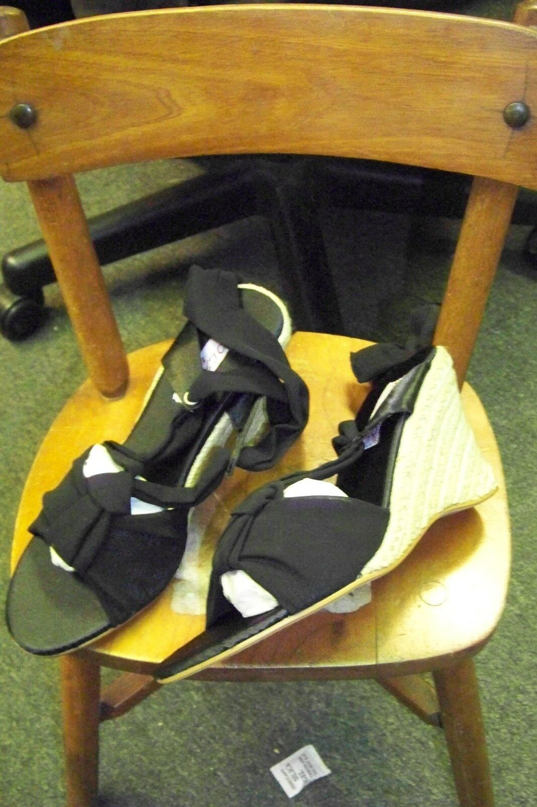 bolaro summer rio size black ankle tie wedge heels shoes size rio 7 1/2 398b92