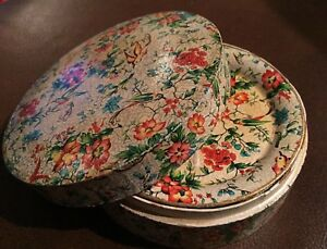 Set Of 8 Coasters And Box Occupied Japan Lacquered Paper Mache