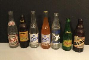 VINTAGE 10oz. Soda Pop Bottles Lot of 7 Various