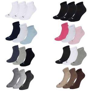 3-Paar-Puma-Sneaker-Quarter-Socken-Gr-35-49-Unisex-fuer-Damen-Herren-Fuesslinge