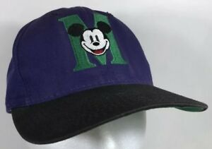 5a73977ae Vtg Mickey Mouse M Varsity Letter The Disney Store Snapback Hat Cap ...