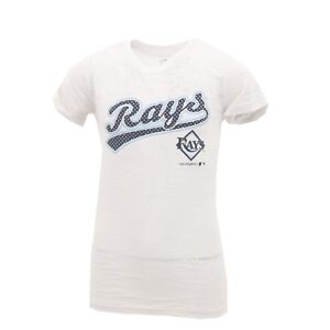 Tampa-Bay-Rays-official-MLB-Kids-Youth-Girls-Size-Sheer-T-shirt-New-With-Tags