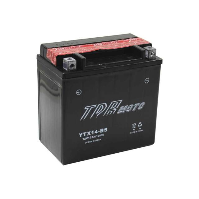 MOTORCYCLE SCOOTER SNOWMOBILE UTILITY BATTERY YTX14BS GTX14BS GTX14-BS YTX14-BS