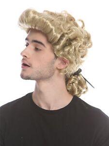 Perruque-Homme-Carnaval-Baroque-Renaissance-Blonde-Tresses-Noble-Noble-Lord