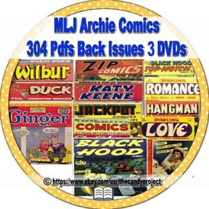 MLJ-Archies-Comics-Archie-Andrews-Jughead-Betty-Veronica-304-PDFs-3-DVD