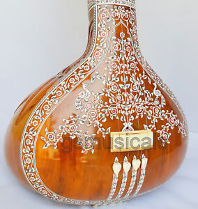 TANPURA-FEMALE-HEMRAJ-DECORATED-MIRAJ-MADE-WITH-FIBERGLASS-CASE-GSM055F-SG