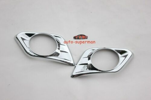 Chrome Front Bumper Fog Light Bezels cover For Nissan NEW X trail T32 2015-16