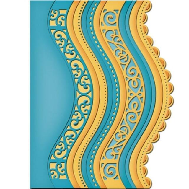 New Spellbinders Curved Borders Two Die Borders S5-201