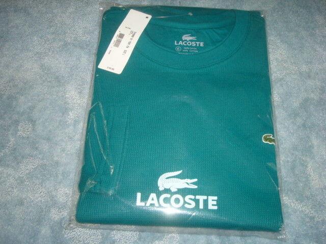 Lacoste verde de  manga larga súperior talla 6 L  diseño único