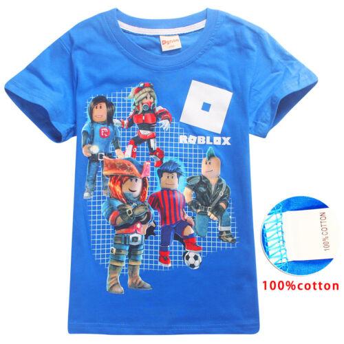 UK Roblox T Shirt Kids Boys Girls Marshmello Soft Cotton T-Shirts Tee Tops