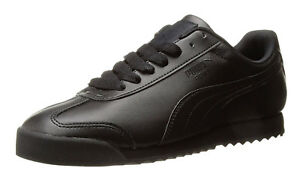 a610e1233594ad Image is loading PUMA-Roma-Basic-Black-Black-Mens-Sneakers-Tennis-