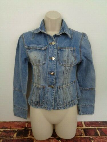 Venus USA Womans Tapered Blue Jean Jacket Trucker