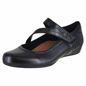 Womens Rockport Cobb Hill Abbott Slip On Leather Pumps New Black CH3041 Medium