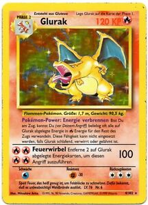 Pokemon-Glurak-Charizard-Holo-4-102-Basis-DE-EX-LP-TCG-6-Raritaet-PP-amp-FAST