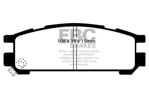 DP3821C EBC Redstuff Rear Brake Pads fit SUBARU Impreza Legacy SVX