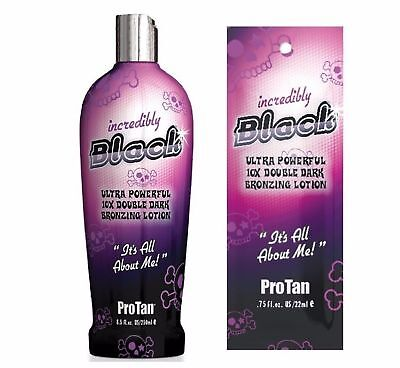 PRO TAN - INCREDIBLY BLACK - SUNBED TANNING LOTION CREAM - SACHET & BOTTLE