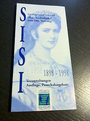 """""""sisi-gedenkjahr"""" Zum 100.geburtstag Kaiserin Elisabeth Faltbl.starnberg 1998 Zz Auf Dem Internationalen Markt Hohes Ansehen GenießEn"""