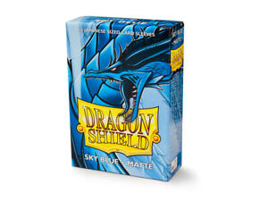 Japanese Matte Sky Blue Case Display Dragon Shield Sleeves - 10x 60 ct Packs