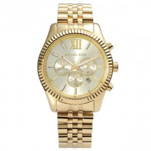 MICHAEL-KORS-LEXINGTON-CHRONOGRAPH-MENS-WATCH-MK8281-CHAMPAGNE-DIAL-RRP-279-00