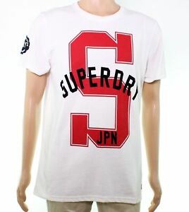 Superdry-Mens-Graphic-Tee-T-Shirt-White-Size-XL-039-S-Logo-JPN-039-State-38-052